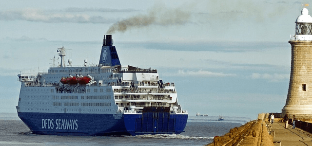 DFDS Seaways breaks the champagne over the bow of their new Nimble Author safety courses