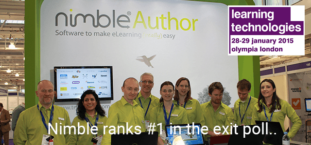 Nimble Triumphs at Learning Technologies 2015