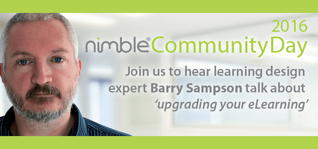 'Upgrade Your Learning' with Barry Sampson at the Nimble Community Day 2016