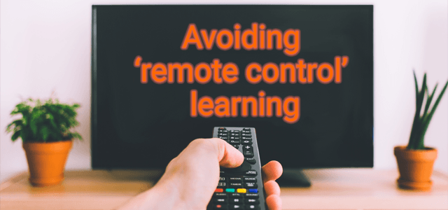"""Avoiding """"Remote Control"""" Learning"""