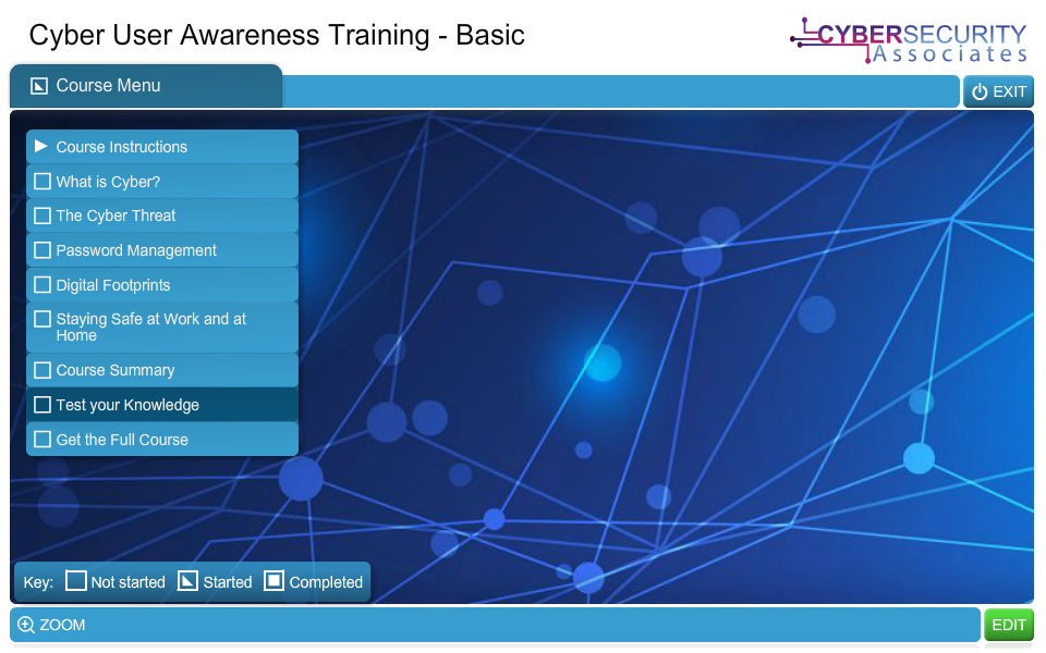 Cyber User Awareness Training (Basic)