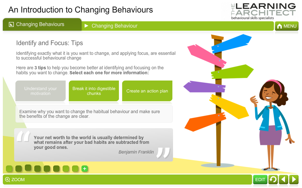 An Introduction to Changing Behaviours