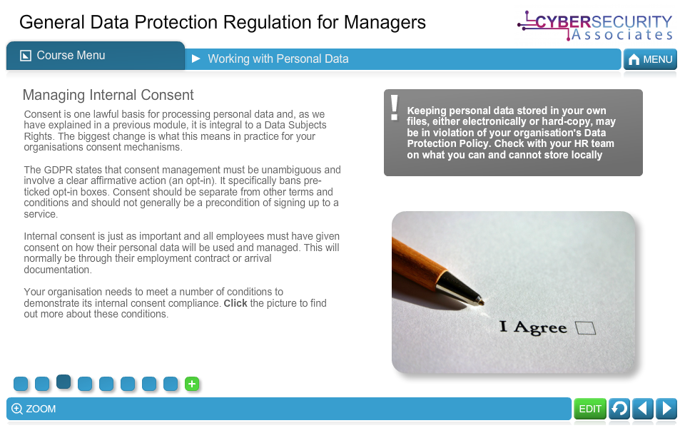 General Data Protection Regulation for Managers