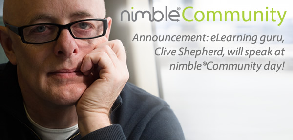 Elearning Guru Clive Shepherd Comes to Nimble Community Day