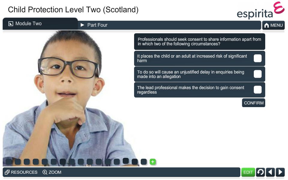 Child Protection Level 2 (Scotland)