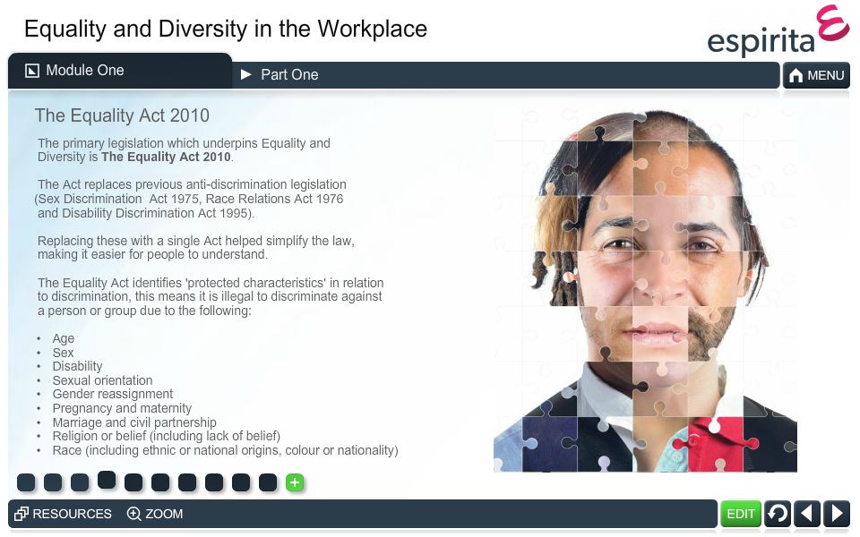 Equality and Diversity in the Workplace
