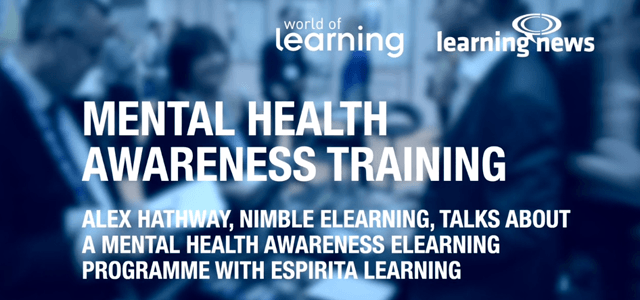 Nimble Elearning Hosts Mental Health Awareness in the Workplace Seminar and Exhibits at World of Learning 2018