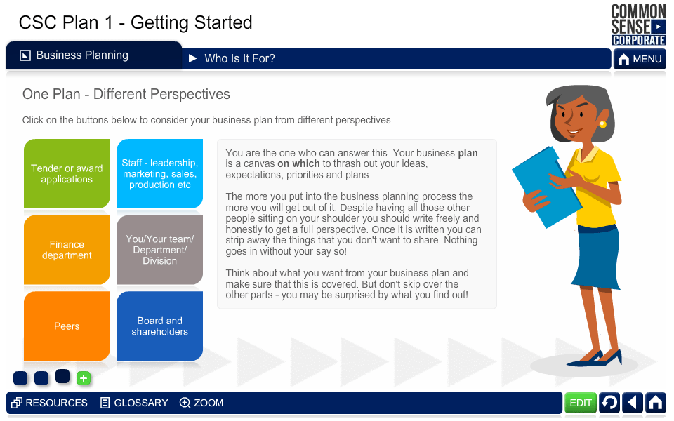 CSC Business Plan 1; Getting Started