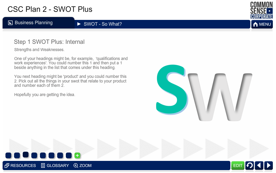 CSC Business Plan 2; SWOT Plus