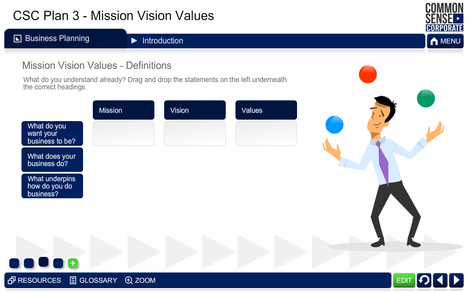 CSC Business Plan 3; Mission, Vision, Values
