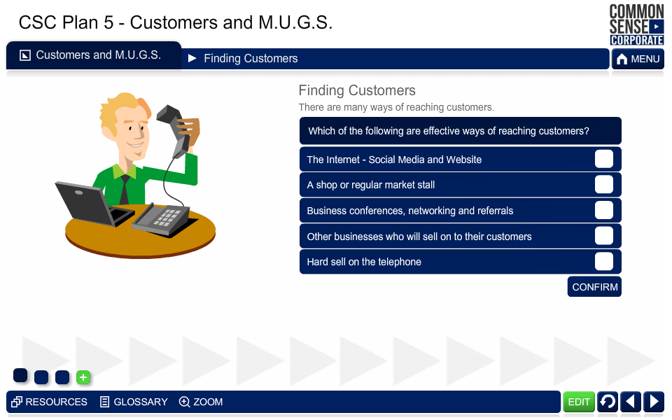 CSC Business Plan 5; Customers and MUGS