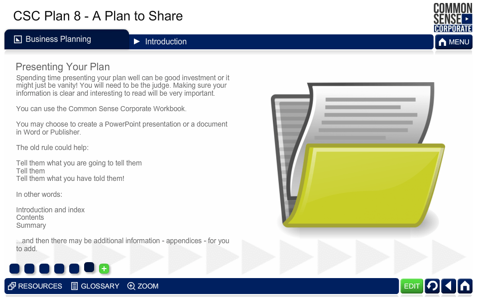 CSC Business Plan 8; A Plan to Share