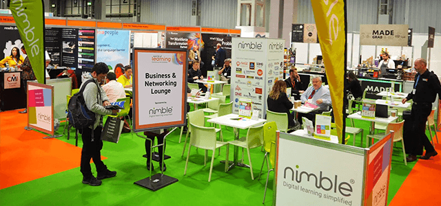 Nimble Elearning sponsors '2019 World of Learning' Business and Networking Lounge