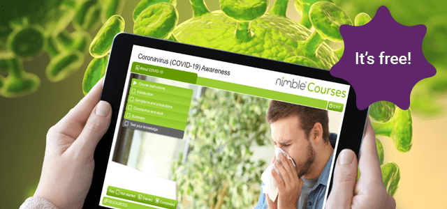 Nimble Elearning FREE Coronavirus (COVID-19) Awareness elearning course