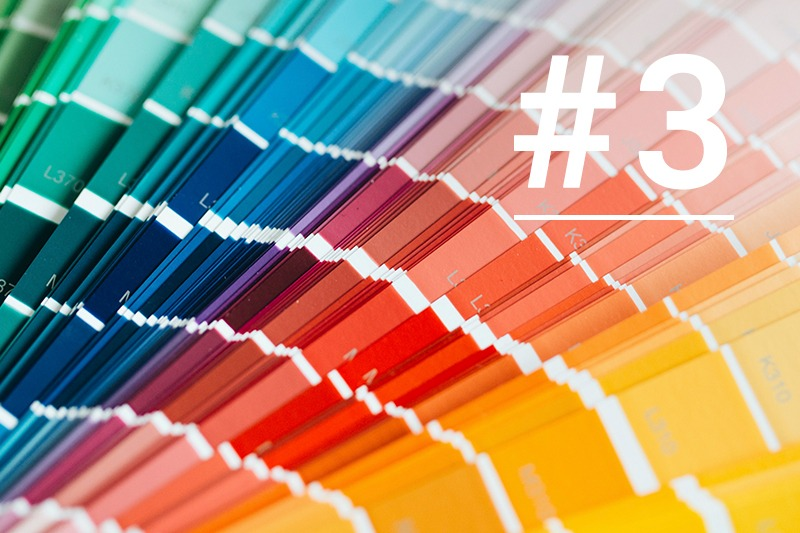 3. Choosing the right colours