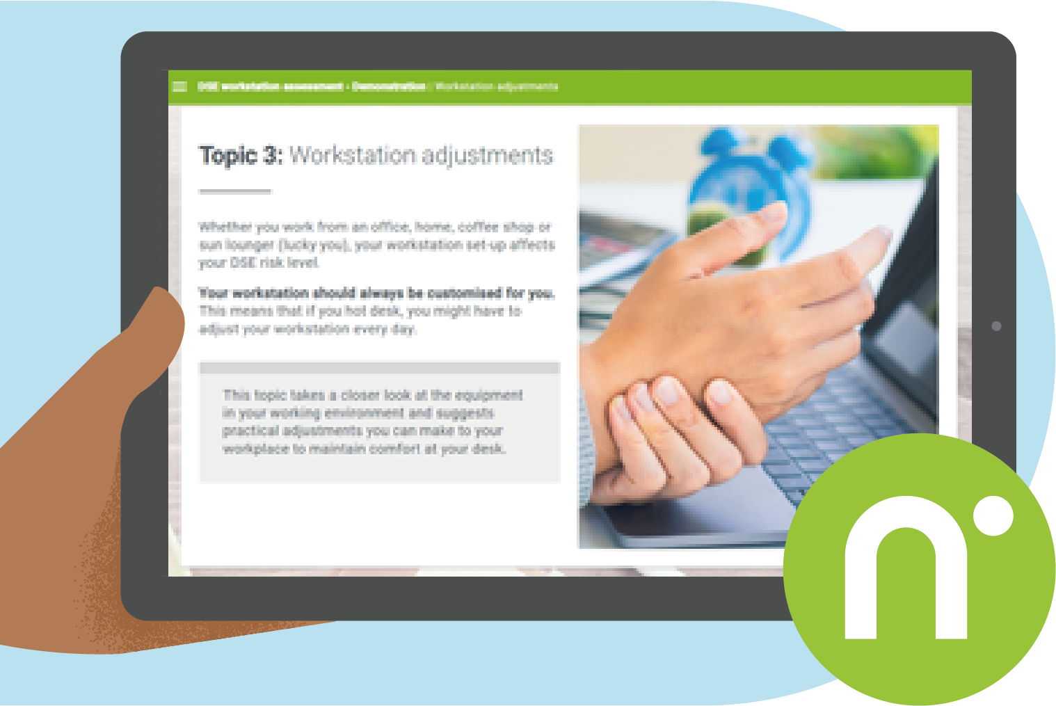 Providing a straightforward elearning course is a great starting point